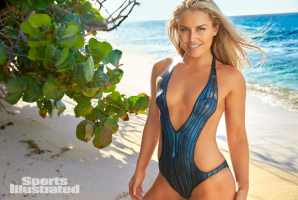 Olympic Gold Medalist Lindsey Vonn is Sports Illustrated Cover-girl wearing nothing but Bodypaint