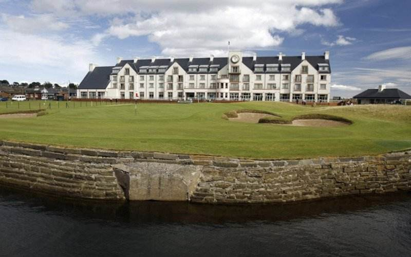 Carnoustie Golf Links at Dundee, Scotland